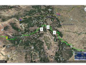 san isabel map with sample 2 location